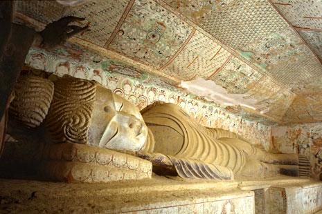 Dunhuang Cave 158: Recumbent Buddha