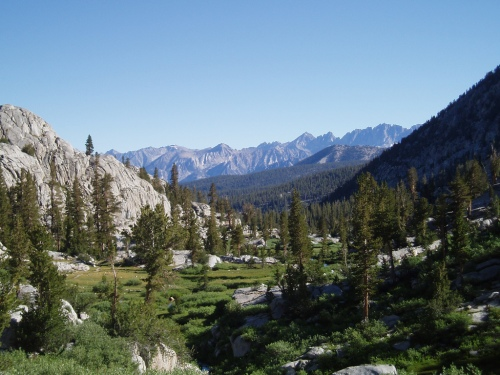 Meadow North Of Granite Pass In Kings Canyon National Park
