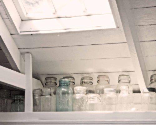 """Vintage Glass Jars in a White Kitchen - 8 x 10"""" - Fine Art Photo"""